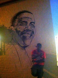 Chuck donny bill barack sides ben s chili bowl for Chuck brown mural
