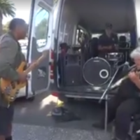 Go-Go Legend Funky Ned's Impromptu Jam Session Rocks the Streets of New Zealand
