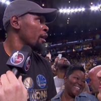 Kevin Durant gives a shout out to Seat Pleasant, PG County, MD, D.C. and VA.